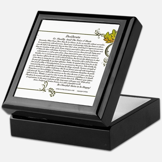 The Desiderata oem by Max Ehrmann Keepsake Box