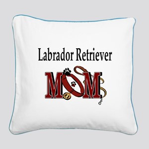 Labrador Retriever Mom Square Canvas Pillow