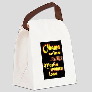 muslim women Canvas Lunch Bag