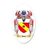 Antic Oval Car Magnet