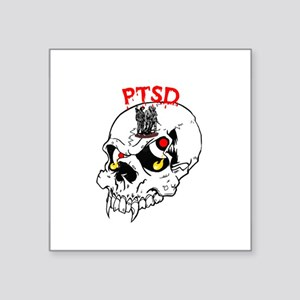 PTSD SKULL Oval Sticker