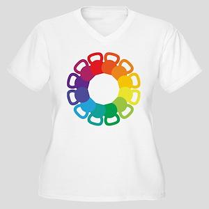 Kettlebell Color Wheel Plus Size T-Shirt