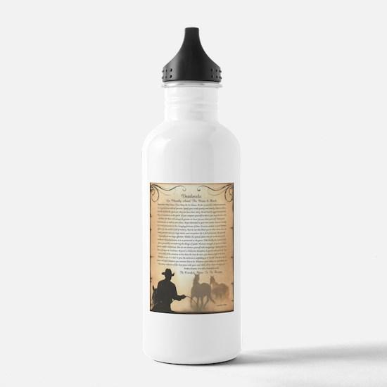The Desiderata Poem by Max Ehrmann Water Bottle