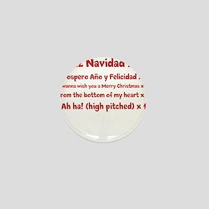 Feliz Navidad song Mini Button