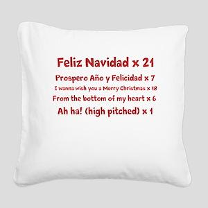 Feliz Navidad song Square Canvas Pillow
