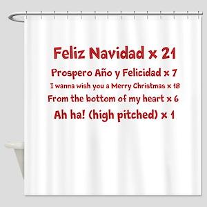 Feliz Navidad song Shower Curtain