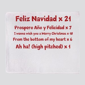 Feliz Navidad song Throw Blanket