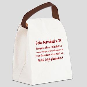 Feliz Navidad song Canvas Lunch Bag
