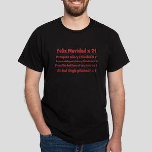 Feliz Navidad song Dark T-Shirt