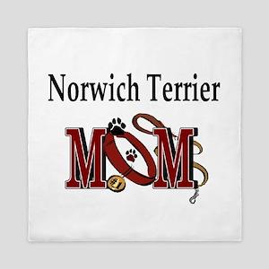 Norwich Terrier Mom Queen Duvet