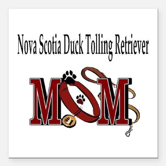 "Nova Scotia Duck Toller Square Car Magnet 3"" x 3"""