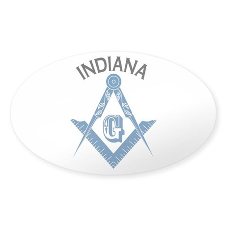 Indiana Freemason Sticker (Oval 10 pk)