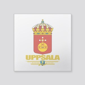 """Uppsala (Flag 10) Square Sticker 3"""" x 3"""""""