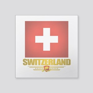 "Switzerland (Flag 10) 2 Square Sticker 3"" x 3"""