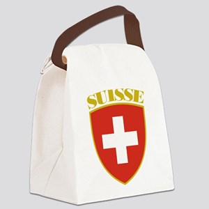 Switzerland (french) Arms Canvas Lunch Bag