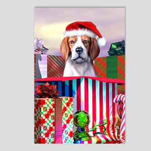 Beagle Claus Christmas Postcards (Package of 8)