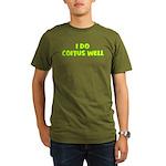 I Do Coitus Well Organic Men's T-Shirt (dark)