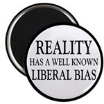 "Reality Has A Liberal Bias 2.25"" Magnet (10 p"