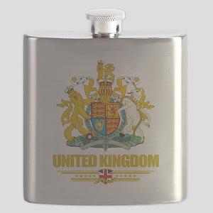 United Kingdom COA (Flag 10) Flask