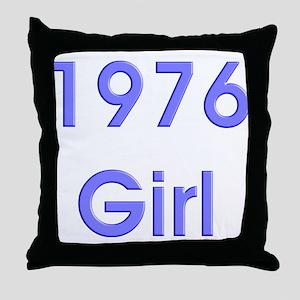 1976 Girl Bold Throw Pillow