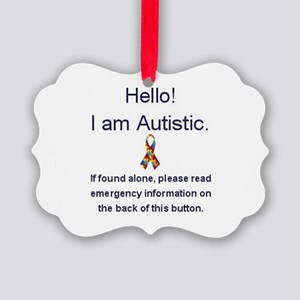 Emergency Autism Picture Ornament