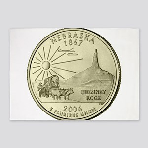 Nebraska Quarter 2006 Basic 5'x7'Area Rug