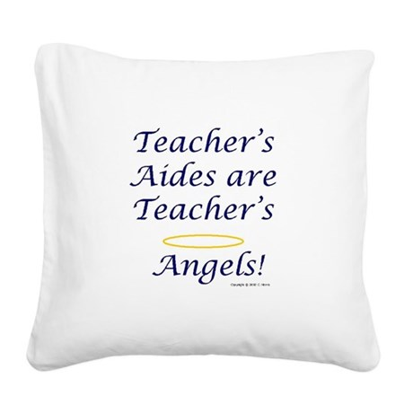 Angels Lunch Box.JPG Square Canvas Pillow