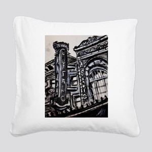 Shea's Performing Arts Center Square Canvas Pillow