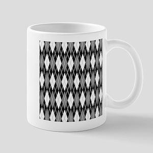 Black Gray Argyle Mug