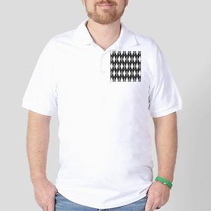 Black Gray Argyle Golf Shirt