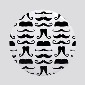 Mustache Print Ornament (Round)