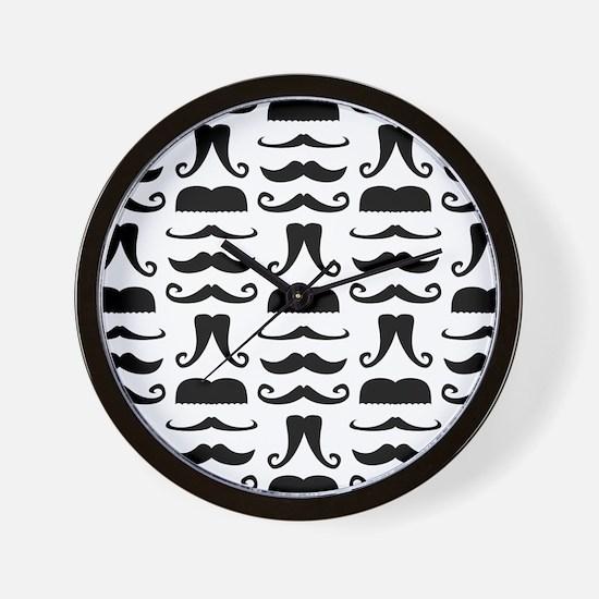 Mustache Print Wall Clock