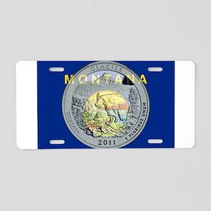 Montana Quarter 2011 Aluminum License Plate