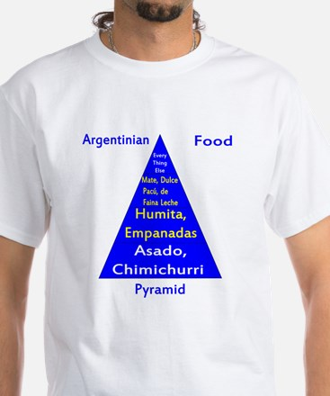 Argentinian Food Pyramid White T-Shirt