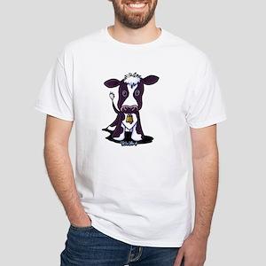 Holstein Cow White T-Shirt