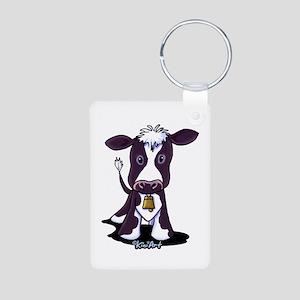 Holstein Cow Aluminum Photo Keychain