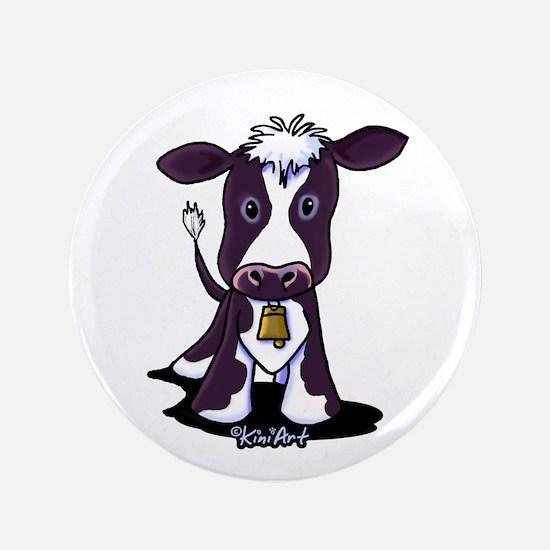 "Holstein Cow 3.5"" Button (100 pack)"