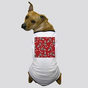 Red Sock Monkey Print Dog T-Shirt