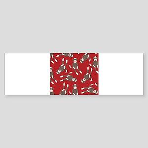 Red Sock Monkey Print Sticker (Bumper)