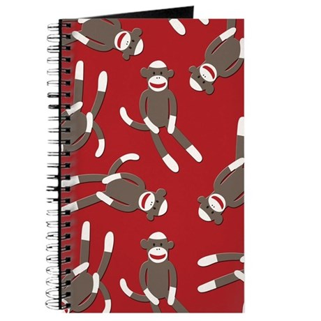 Red Sock Monkey Print Journal