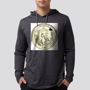 Montana Quarter 2011 Basic Mens Hooded Shirt