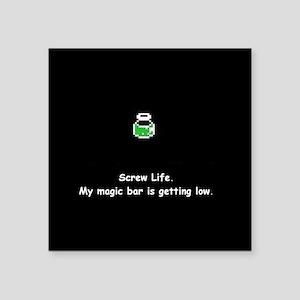 """Green Magic Potion Square Sticker 3"""" x 3"""""""