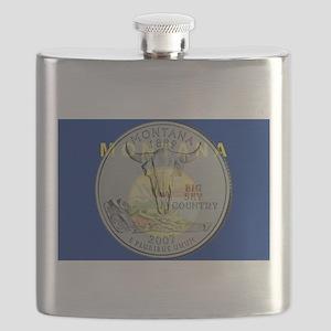 Montana Quarter 2007 Flask