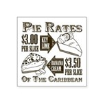 Pie Rates of the Caribbean Square Sticker 3