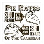 Pie Rates of the Caribbean Square Car Magnet 3