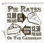 Pie Rates of the Caribbean Shower Curtain