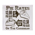 Pie Rates of the Caribbean Throw Blanket