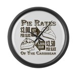 Pie Rates of the Caribbean Large Wall Clock