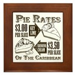 Pie Rates of the Caribbean Framed Tile