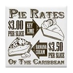 Pie Rates of the Caribbean Tile Coaster